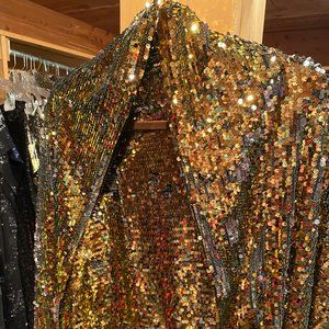 Gold Sequins Shawl